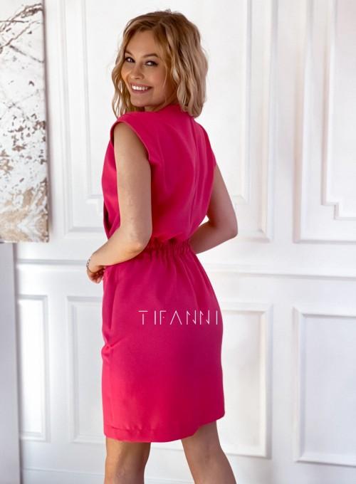 Elegancka sukienka Alexia fuksja 2