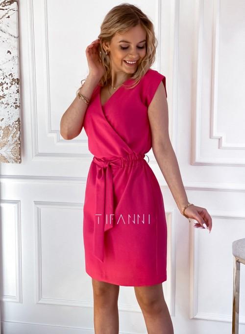 Elegancka sukienka Alexia fuksja 4