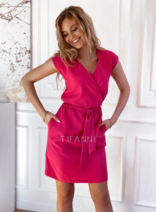 Elegancka sukienka Alexia fuksja 5
