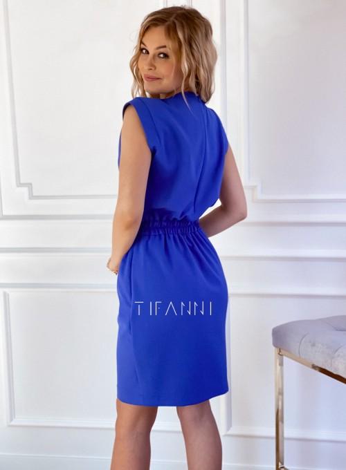 Elegancka sukienka Alexia kobaltowa 2