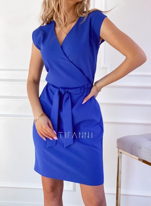 Elegancka sukienka Alexia kobaltowa 3