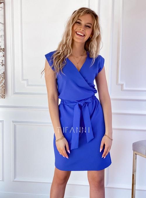 Elegancka sukienka Alexia kobaltowa 5