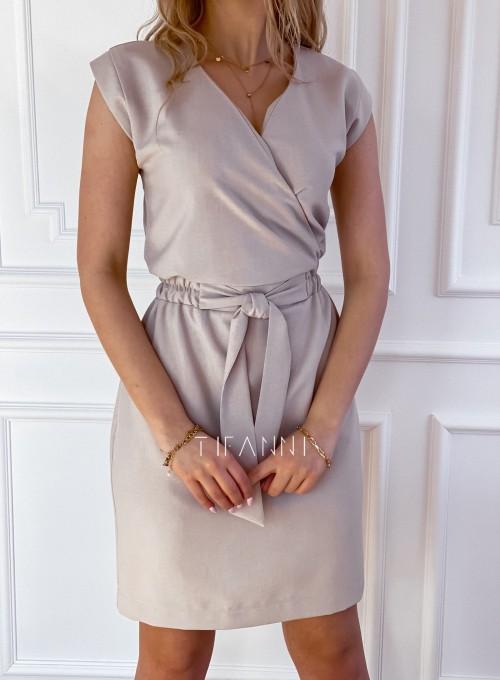 Elegancka sukienka Alexia beżowa 3