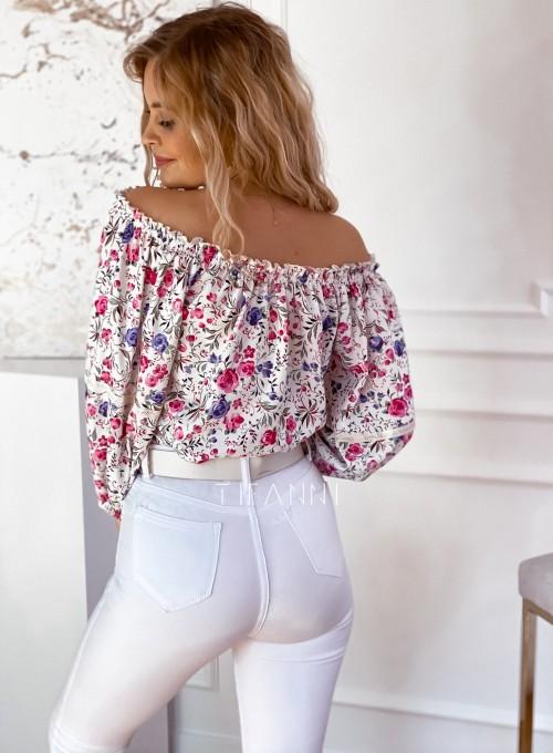 Bluzka hiszpanka Remmi w kwiatki 2