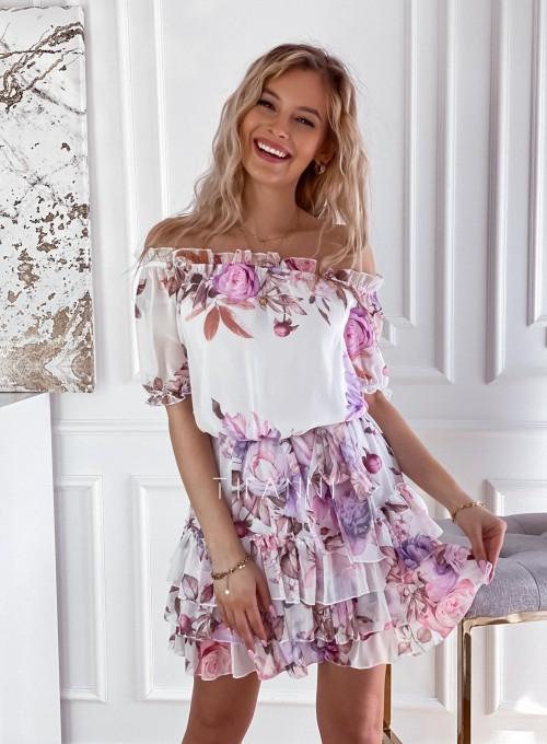 Zwiewna sukienka hiszpanka Cela