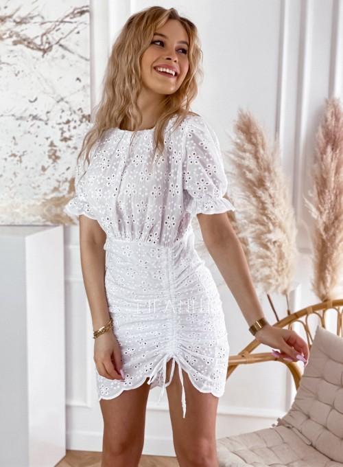 Sukienka ażurkowa Summer biała 7