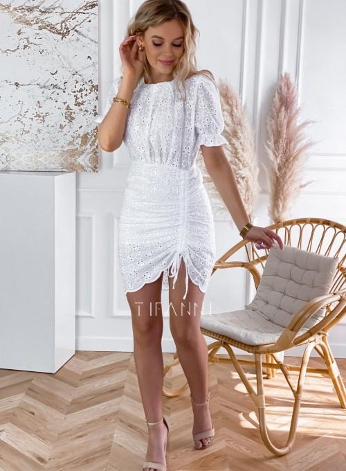 Sukienka ażurkowa Summer biała 1