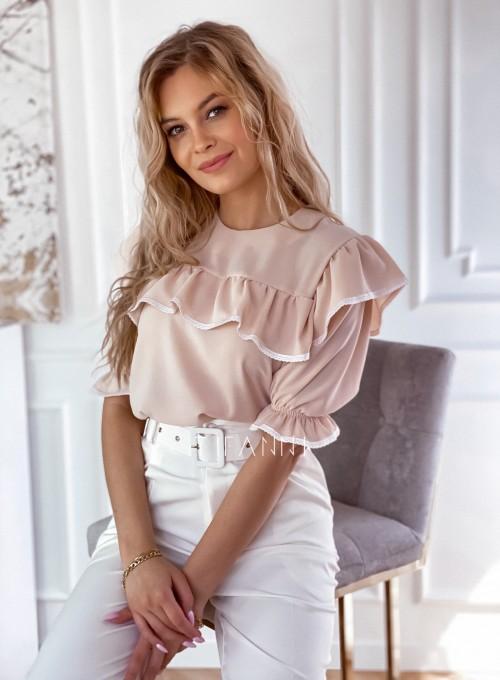 Szyfonowa bluzka Patris Beżowa