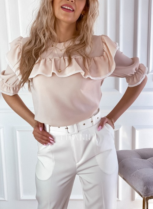 Szyfonowa bluzka Patris Beżowa 2