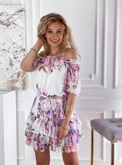 Zwiewna sukienka hiszpanka Cela 4