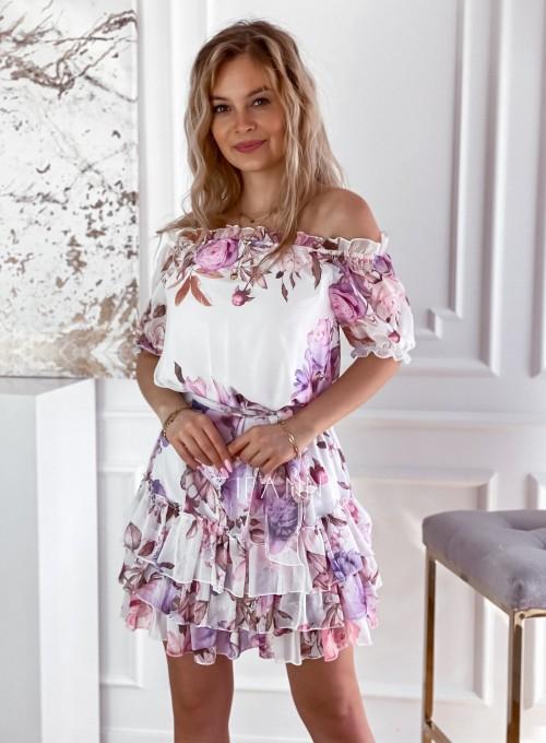Zwiewna sukienka hiszpanka Cela 5