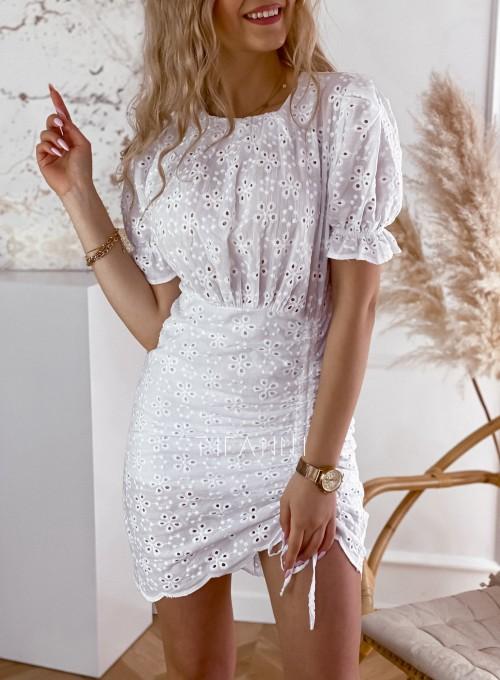Sukienka ażurkowa Summer biała 2