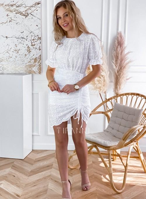 Sukienka ażurkowa Summer biała 5