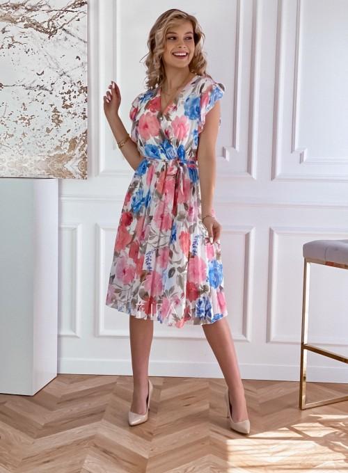 Plisowana kwiatowa sukienka Valeria