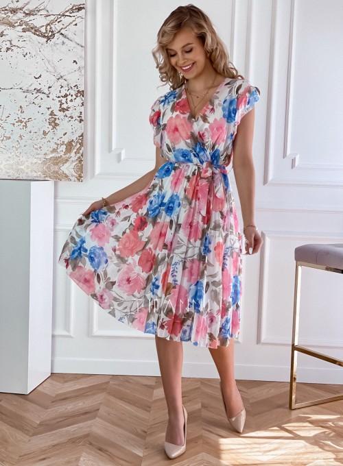 Plisowana kwiatowa sukienka Valeria 2