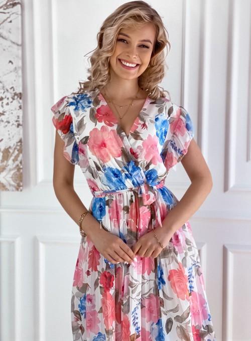 Plisowana kwiatowa sukienka Valeria 1
