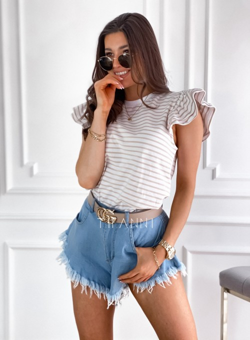 T-shirt Margot strips baige 3