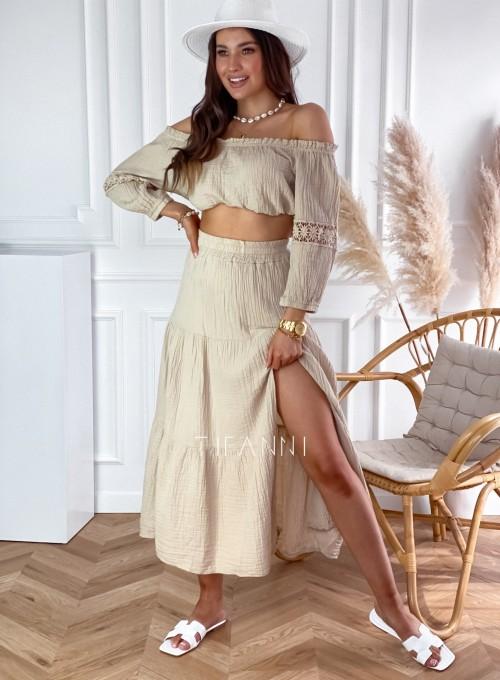 Komplet bluzka hiszpanka ze spódnicą Vandi
