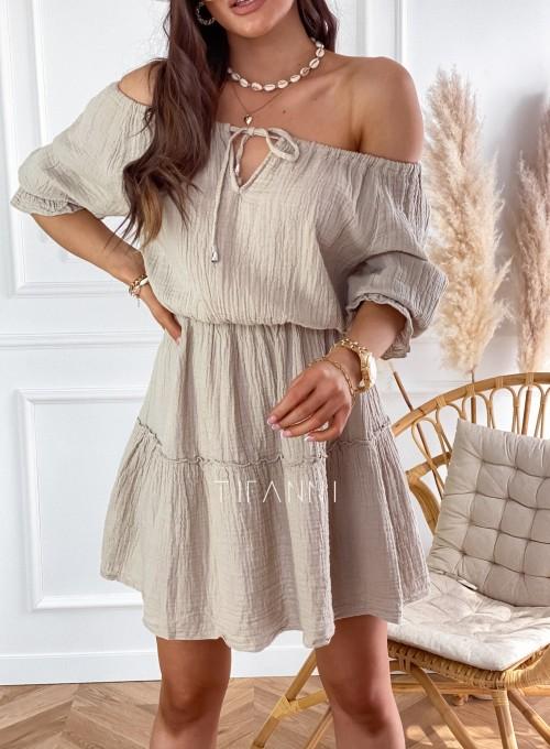 Sukienka Luci beżowa 3