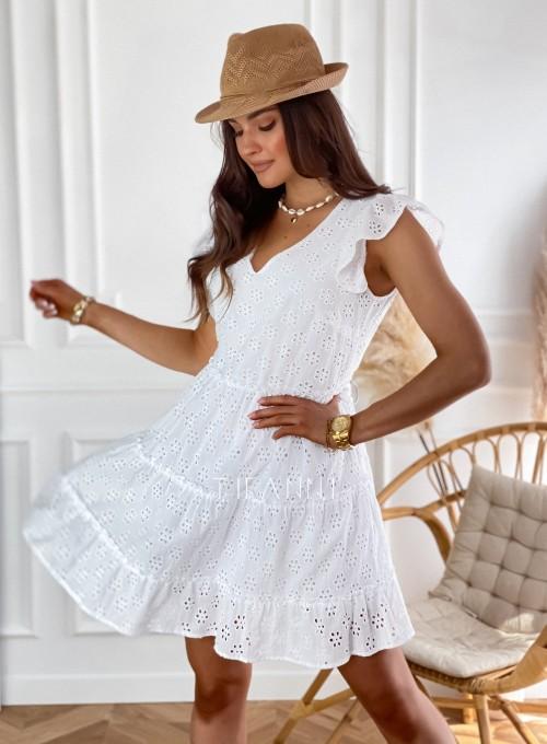 Ażurowa sukienka Casandra biała