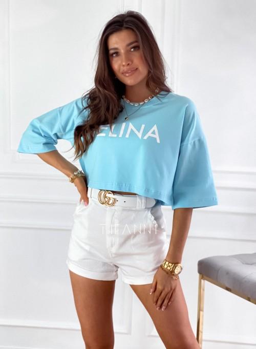 T-shirt Celina błękitna 1