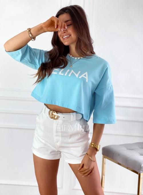 T-shirt Celina błękitna 2