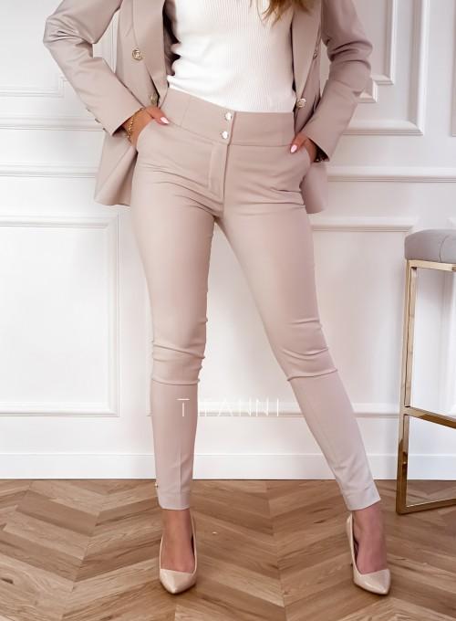 Spodnie Livardi ciepły beż