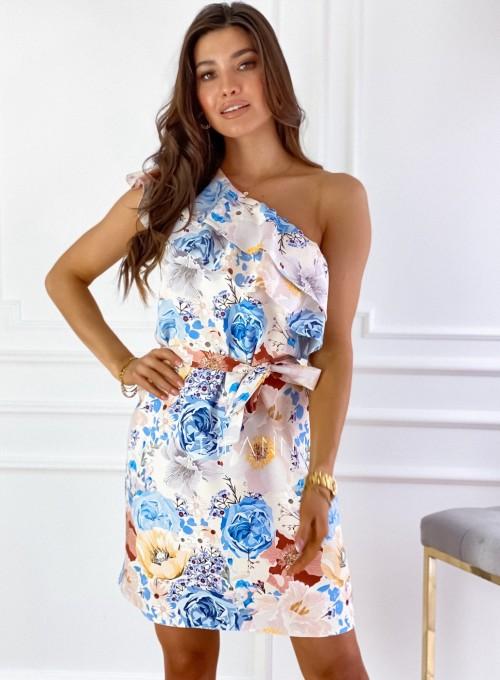 Sukienka na jedno ramię Kayra flowers