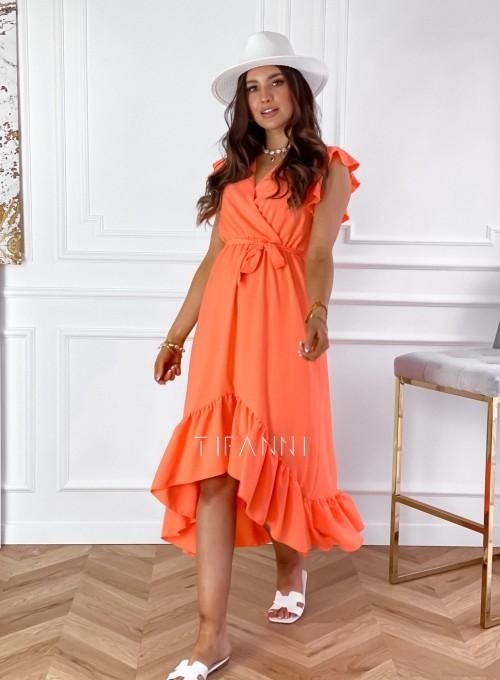 Sukienka Maestro maxi orange 1