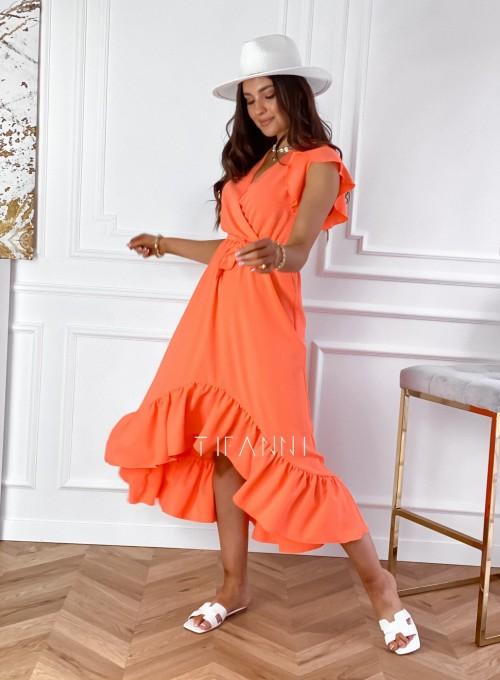 Sukienka Maestro maxi orange 2