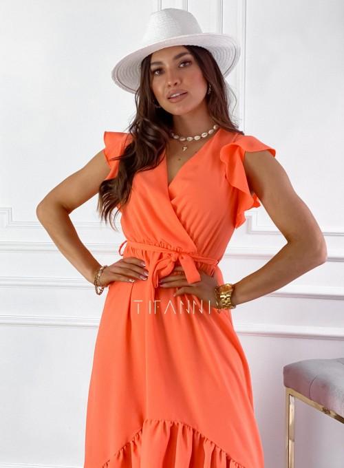 Sukienka Maestro maxi orange 3