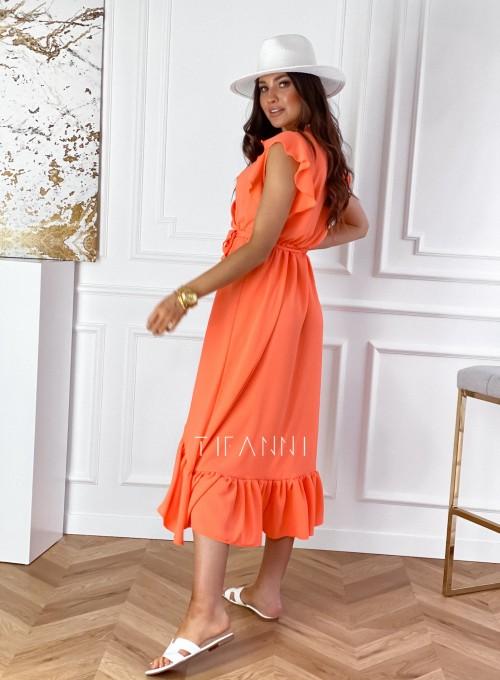 Sukienka Maestro maxi orange 5