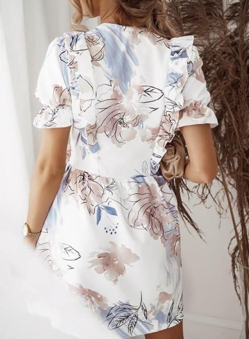 Sukienka kopertowa Susan w kwiatki 1