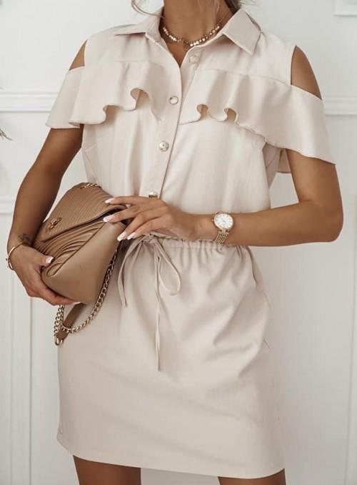 Sukienka Lika beżowa 2