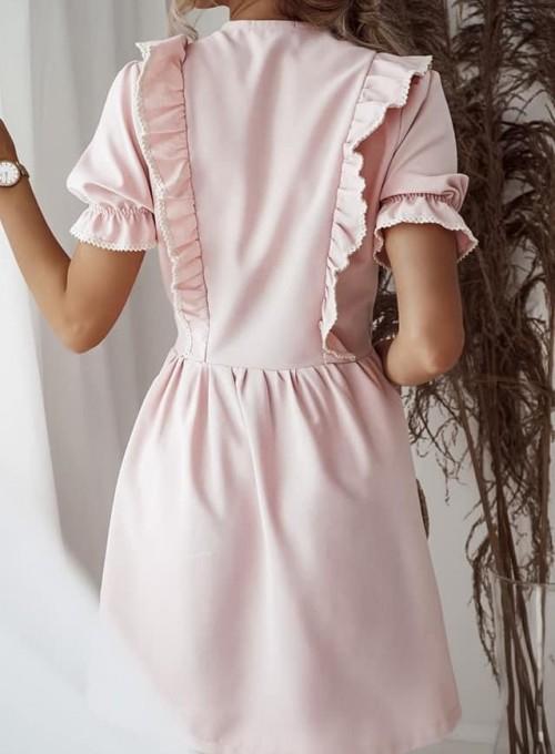 Sukienka kopertowa Susan pudrowa 1