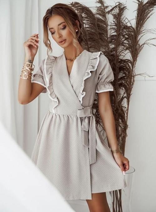 Sukienka kopertowa Susan beżowa