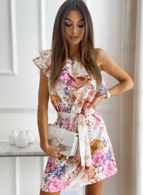 Sukienka na jedno ramię Kayra flowers II 5