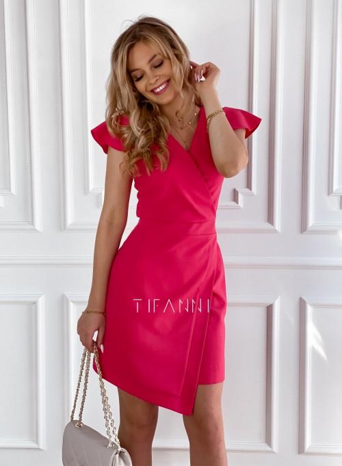 Elegancka sukienka Elle malinowa