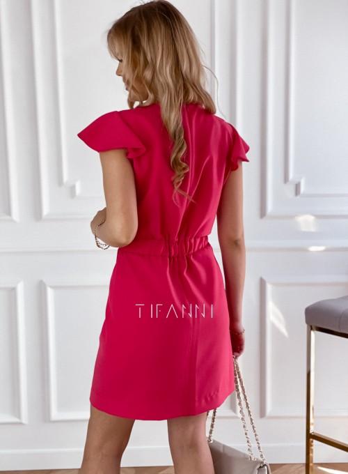Elegancka sukienka Elle malinowa 2