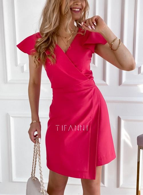 Elegancka sukienka Elle malinowa 3