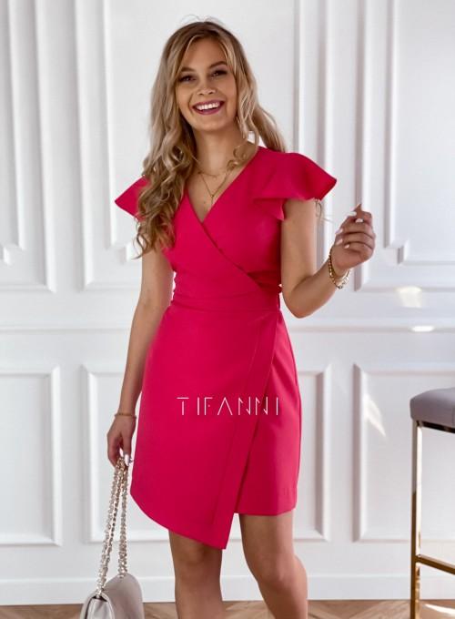 Elegancka sukienka Elle malinowa 4