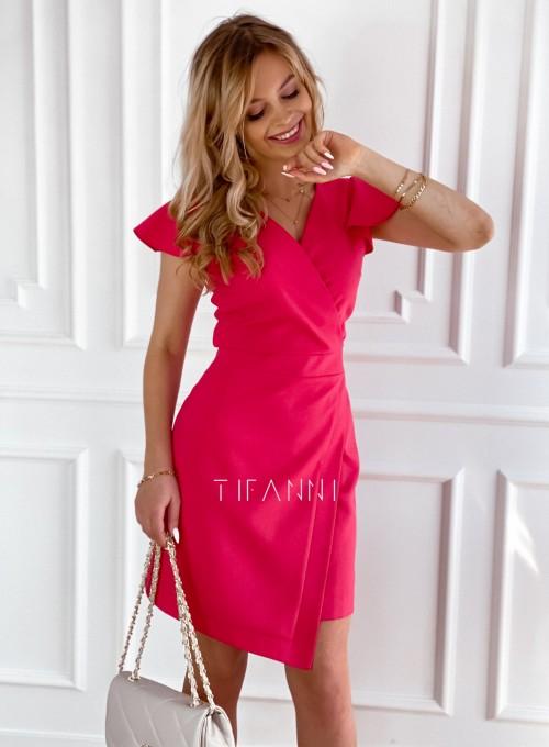 Elegancka sukienka Elle malinowa 5