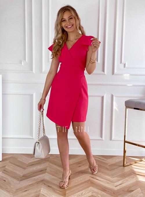 Elegancka sukienka Elle malinowa 7