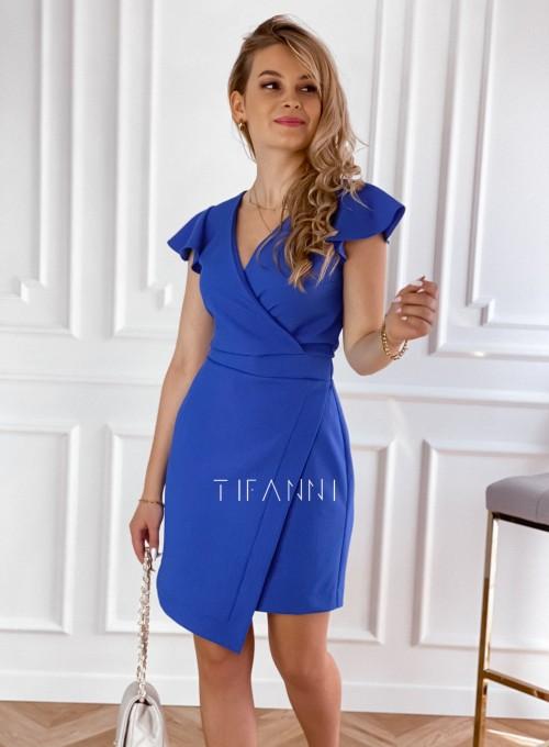 Elegancka sukienka Elle kobaltowa