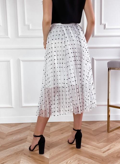 Spódnica Sisi biała w groszki 2