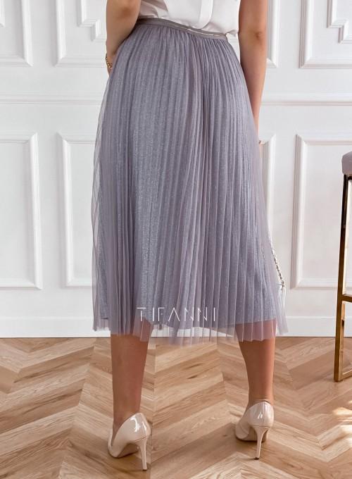 Elegancka plisowana spódnica Loren popiel 2