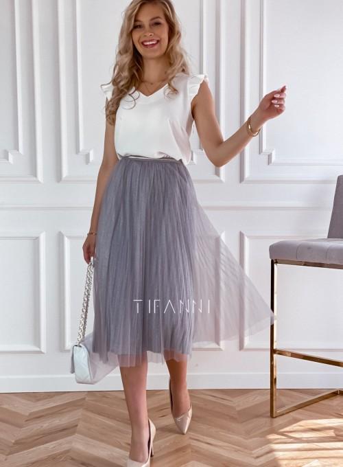 Elegancka plisowana spódnica Loren popiel 5