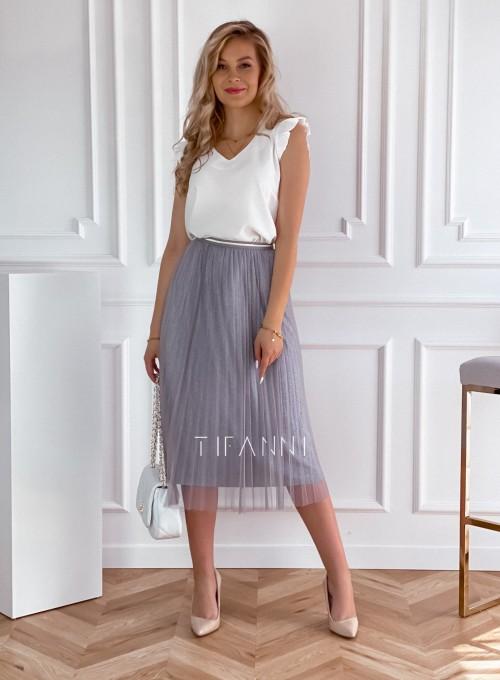 Elegancka plisowana spódnica Loren popiel 3