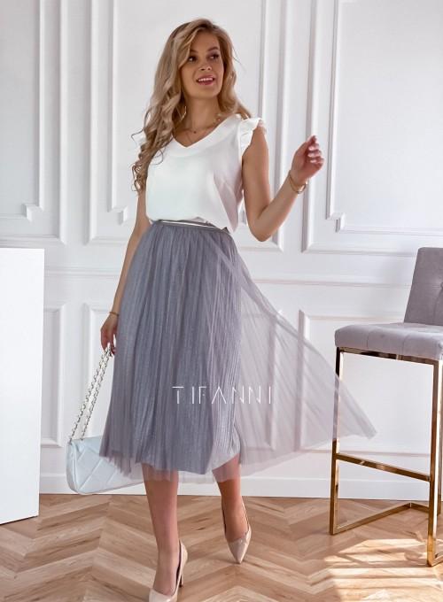 Elegancka plisowana spódnica Loren popiel 7