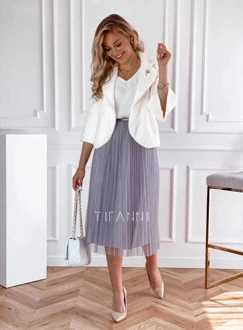 Elegancka plisowana spódnica Loren popiel 1